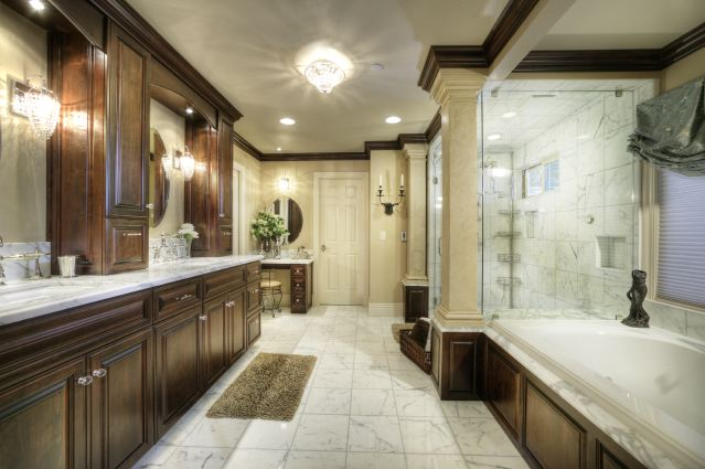 Sacramento custom bathroom cabinet design gallery for Master bathroom remodel