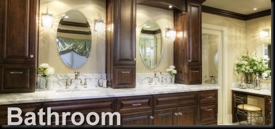 Image Of Bathroom Wood Cabinet Gallery
