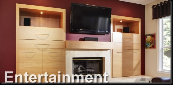 Image of Entertainment Center Wood Cabinet Gallery